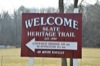 Welcome to the Slate Heritage Trail, Established 1999, Covered Bridge 2.0 miles, Slatington 3.1 miles.
